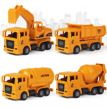 2pcs Construction vehicle excavator toy dump truck model classic toy inertia car children toy construction vehicle 6pcs set back car toys inertia racing car model baby mini construction vehicle fire truck taxi kids toy for boy gifts