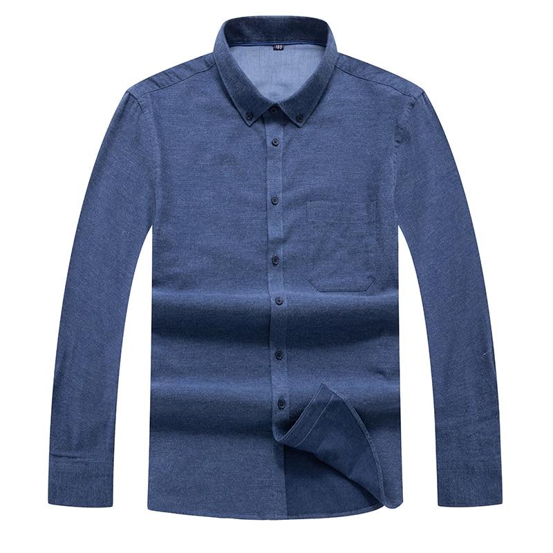 Plus Size 8XL 7XL 6XL Autumn Winter Casual Men Long Sleeve Shirt Fashion Design Fabric Soft Comfortable Men Dress Slim Fit Style