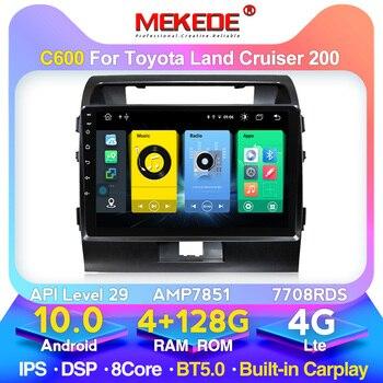 MEKEDE-Radio Multimedia con GPS para coche, Radio con reproductor, Android 10, 4GB + 128 GB, Carplay, DSP, para Toyota Land Cruiser, Landcruiser, LC200, 2003-2012, VXR, GXR