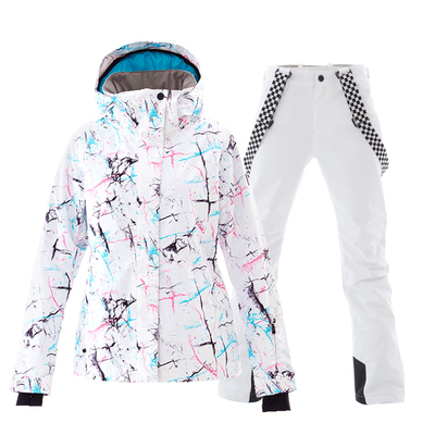SMN Ski Suit Adult Women Winter Waterproof Breathable Winter Warm Snowboard Jacket Pants Wind Resistant Outdoor Snowboard Suit