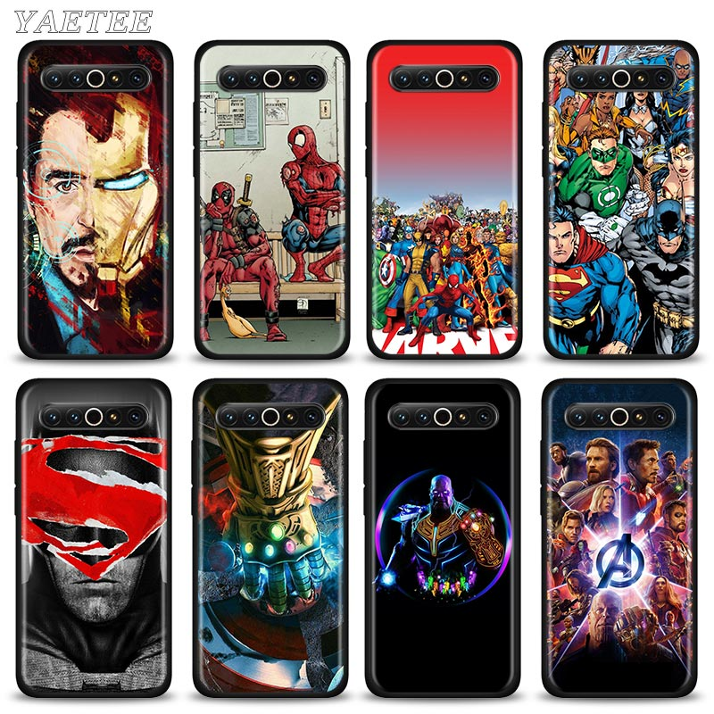 Marvel The Avengers Black Soft Case for <font><b>Meizu</b></font> <font><b>16</b></font> 17 <font><b>Pro</b></font> 16s <font><b>Pro</b></font> 16Xs 16th M6 TPU Silicone Housing Cover image