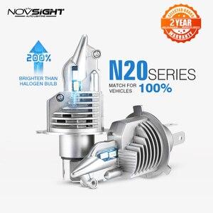 1:1 дизайн NOVSIGHT H4 светодиодный H7 H11 H16JP 9005 9006 9012 P13 PSX24W PSX26W 50 Вт 10000LM 6500K противотуманные фары