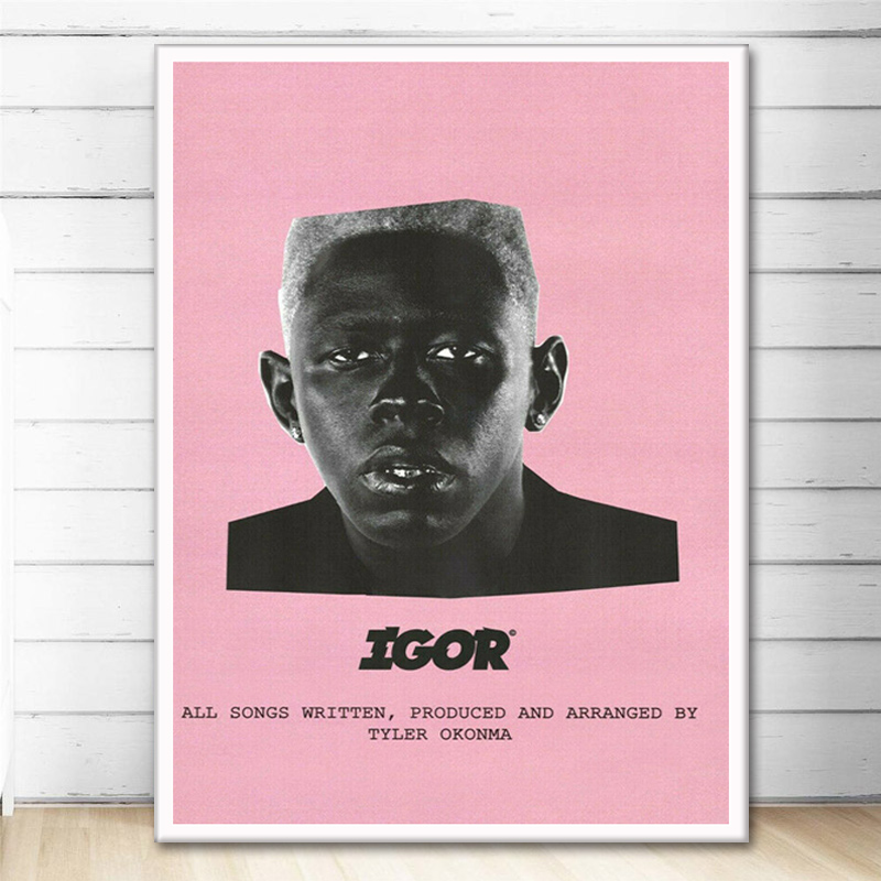 Posters and Prints Tyler Igor Rap Music Album Stars Poster Wall Art Picture Canvas Painting for Room Home Decor image