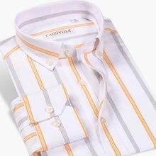 Dress Shirt Long-Sleeve Work-Button-Down-Collar Smart Casual Men's New Classic Social