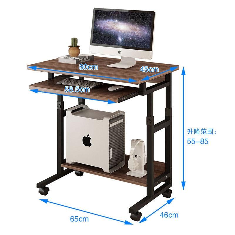 Table de chevet mobile, bureau d'ordinateur, bureau de maison mobile, bureau de levage, dortoir, petite table de jeu
