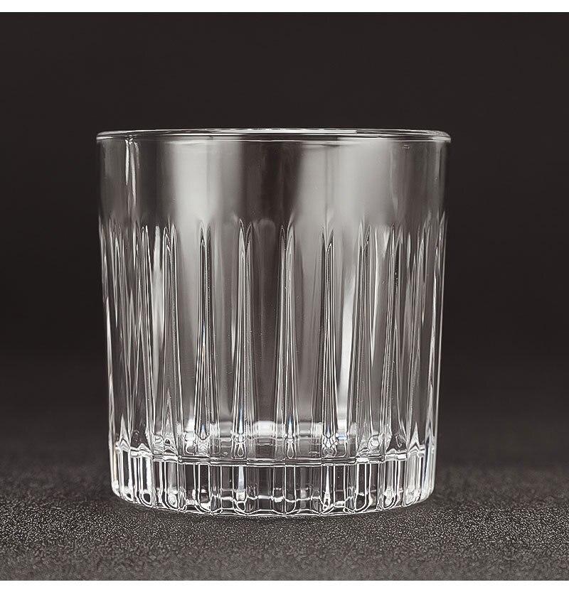 1 шт. с пазами для сигарет чашки для сигар бессвинцовый прозрачный стакан для пива домашнее Вино тумблер для виски утолщенное стекло круглая кружка для напитков