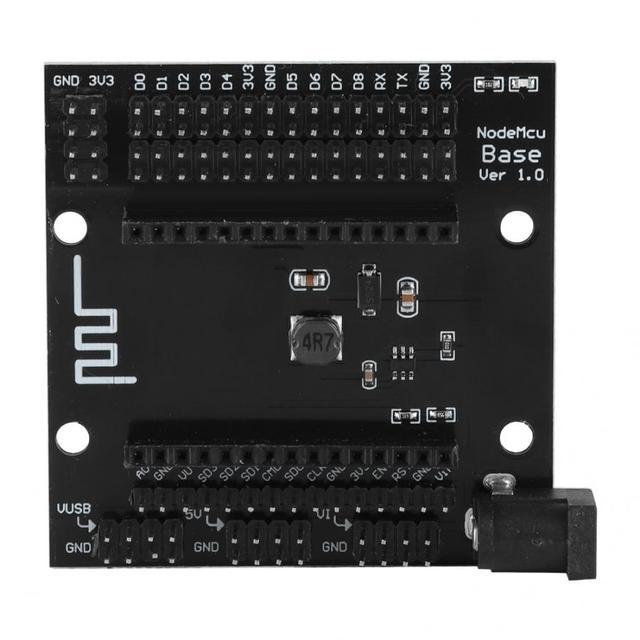 Demo Board Accessories NodeMcu Lua Black Metal ESP8266 WIFI Development Plate Base Expander Board Base orange pi