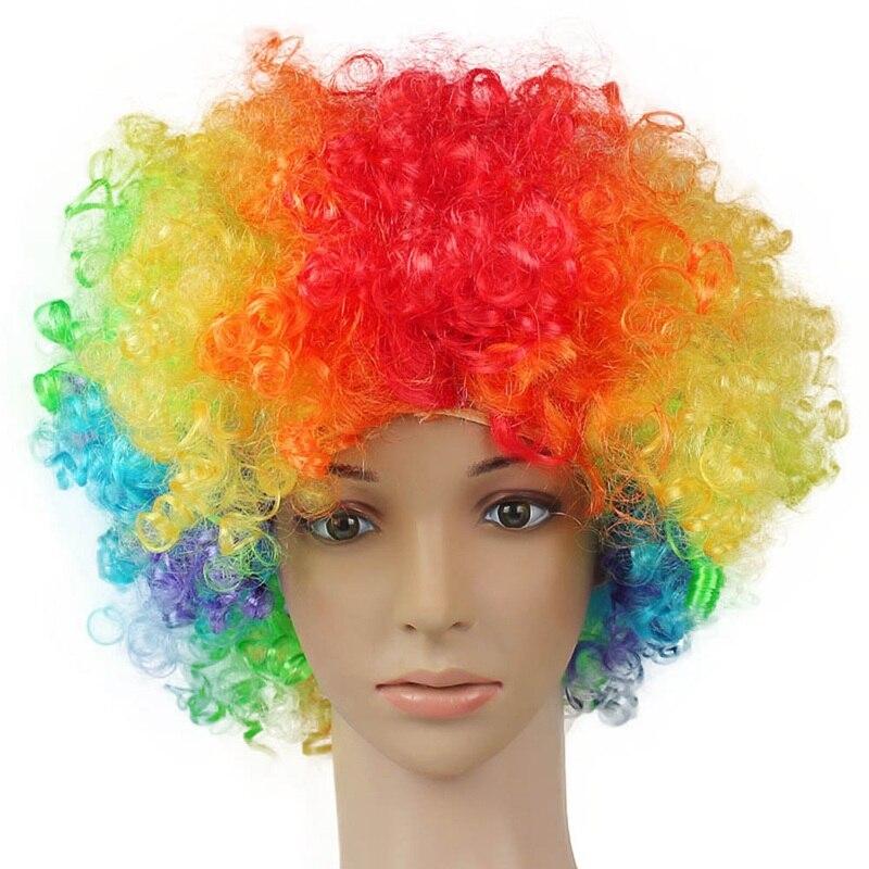 Хэллоуин Дискотека клоун волос кудрявый афро Цирк Необычные платья волос парики Xmas Детский костюм для вечеринок