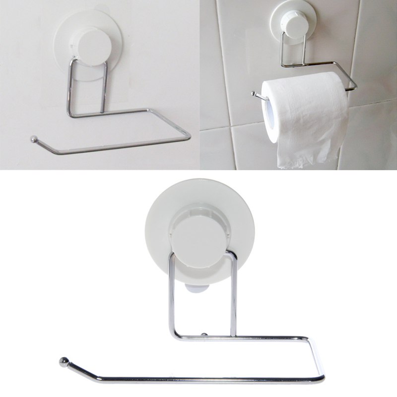 Toilet Paper Holder Bathroom Suction Hanger Tissue Rack Kitchen Towel Hook Drop Ship
