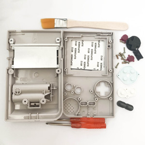 Image 2 - Szare etui na cały telefon obudowa na konsolę Gameboy Pocket na GBP szara obudowa Case przyciski podkładki gumowe śrubokręt