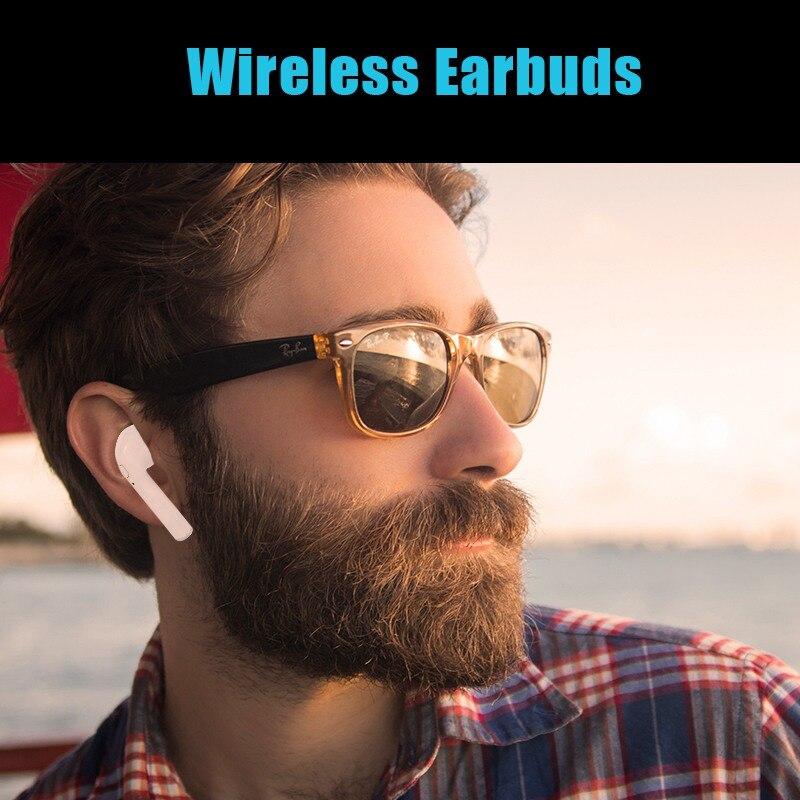 New i7s TWS Mini Wireless Earphones HiFi Stereo Headset Bluetooth Earbuds Headphones With Mic For iPhone XS/X/8/7 Huawei P20