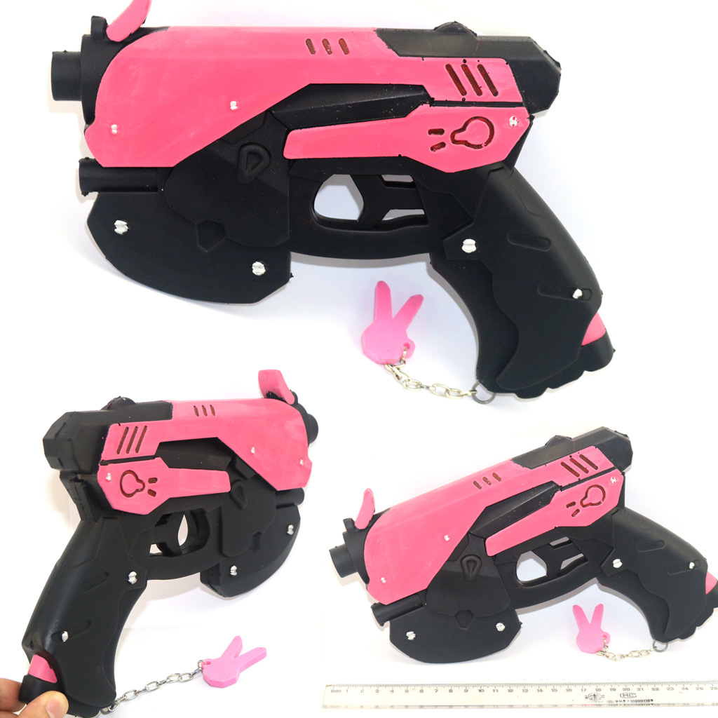 Game Overwatch D.Va Gun Hana Song DVA Weapon Pistol Cosplay Props Accessories For Game Halloween Party Toy 3