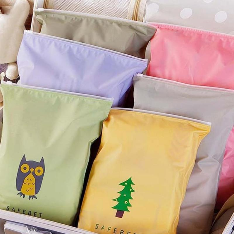 Storage Bag Large Waterproof Cartoon Pattern Clothing Finishing Travel Pull Bag Storage Bundle Waterproof Zipper Ziplock Bag