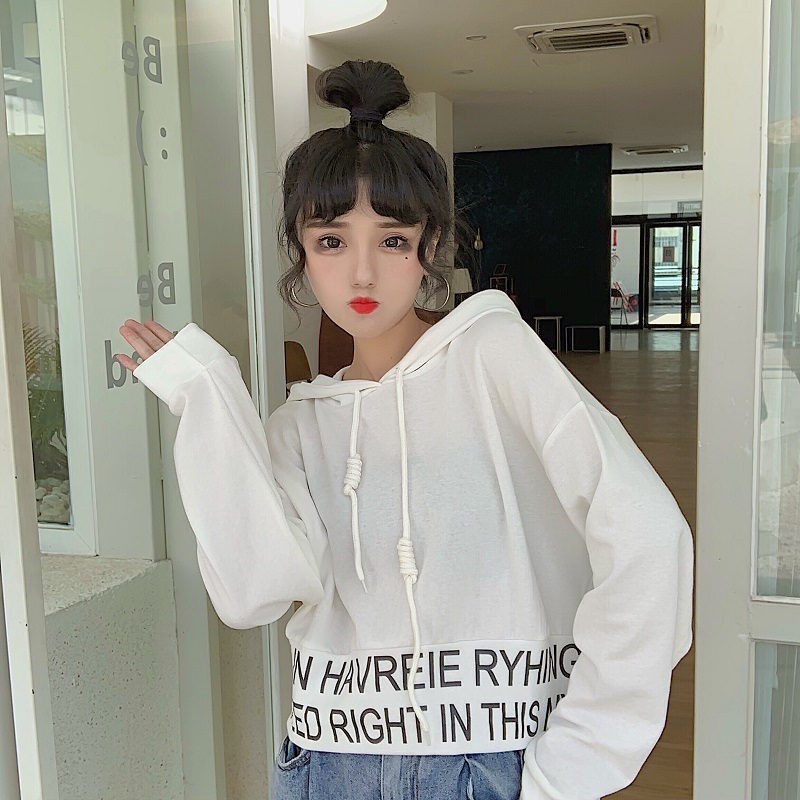 sweet hooded letter loose full Korean style Spring and autumn ladies tops Women's Clothing fashion brand high quality Hoodies 2