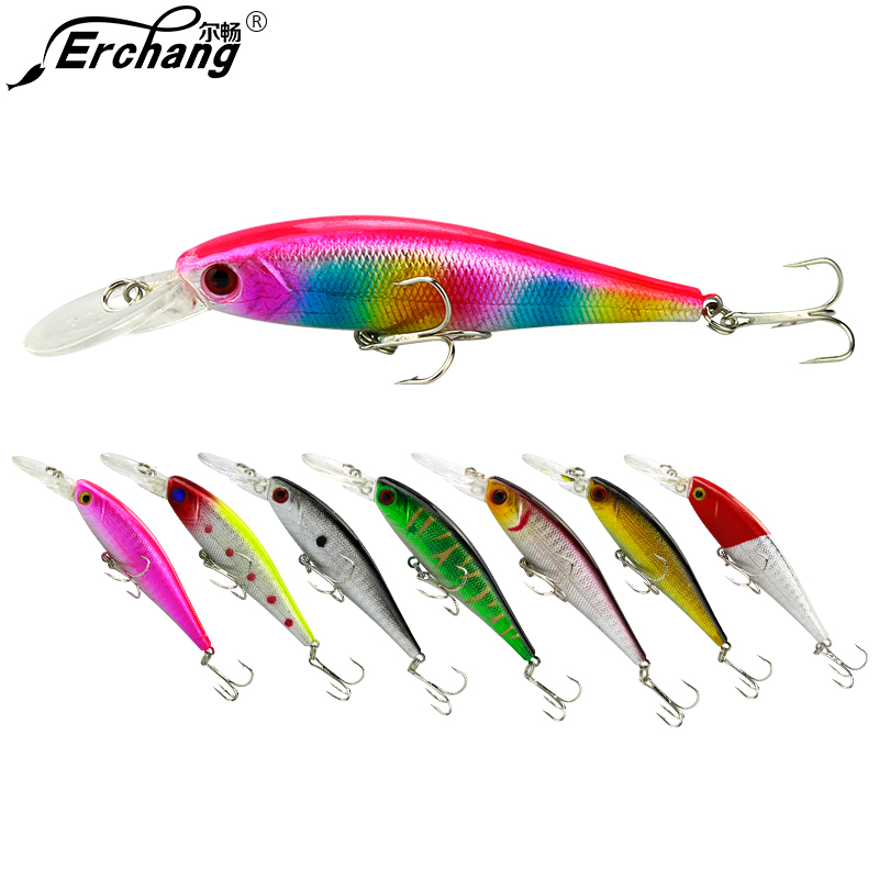 9.2G 8cm Plastic Fishing Lure Swimbait Crankbait Lure Fishing Tackle With 3D Eyes And Hooks Hard Bait Fishing Tackle Pesca Carp