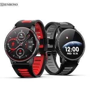 Image 1 - Смарт часы SENBONO S20 для мужчин и женщин, водостойкие, IP68, Bluetooth 5,0, пульсометр, 2020