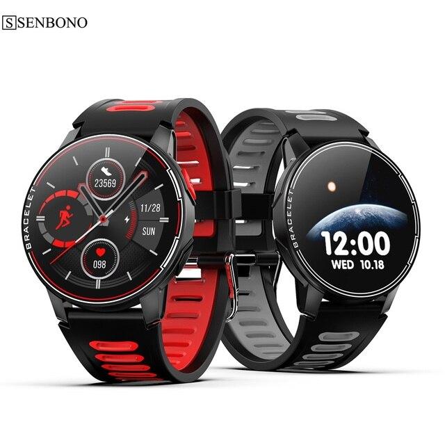 Смарт часы SENBONO S20 для мужчин и женщин, водостойкие, IP68, Bluetooth 5,0, пульсометр, 2020