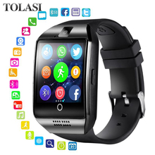 Get more info on the Bluetooth Smart Watch men Q18 With Camera Facebook Whatsapp Twitter Sync SMS Smartwatch Support SIM TF Card For IOS Android