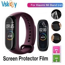 100 Pcs Soft Screen Protector Voor Xiaomi Mi Band 5 Smartwatch Miband 4 Ultra Dunne Anti kras Beschermfolie (geen Gehard Glas
