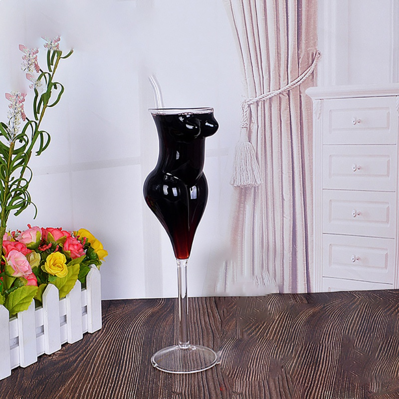 Creative Body Shape Glass Cup Whiskey Glasses Wine Shot Glass Cup <font><b>Sexy</b></font> <font><b>Lady</b></font> Men Body Shape Chest Beer Cup for Vodka Whiskey Beer image