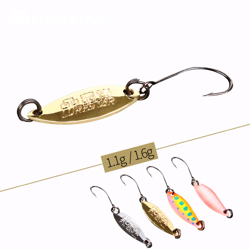 Details about  /Luminous Trout Spoon Metal Fishing Lures Spinner Baits Tackle Bass Hooks X1A3