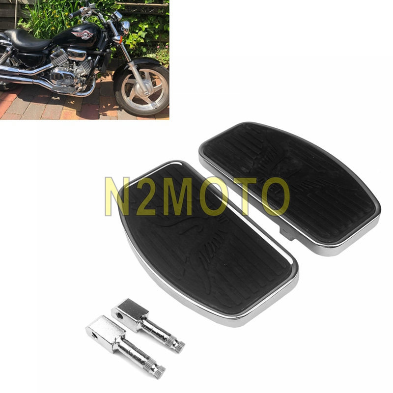 Motorcycle Footboard Floorboard Foot Pegs For Honda VTX1300 VTX1800 Magna VF250 Yamaha V-STAR Drag Star XVS 650 Suzuki VL400