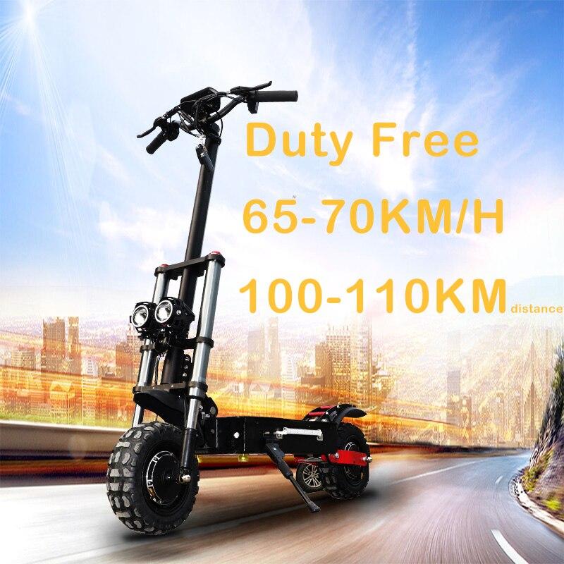 Scooter électrique adulte de 11 pouces 60V 3200W avec le seste 110-110KM 70 km/h puissant fort pliable outre de la route Patinete Electrico Adulto