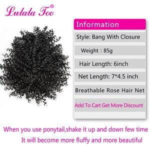 Image 2 - Синтетические кудрявые вьющиеся волосы 6 дюймов, парик конский хвост ананаса, накладные волосы пучок, шиньон, челка, наращивание волос на клипсе
