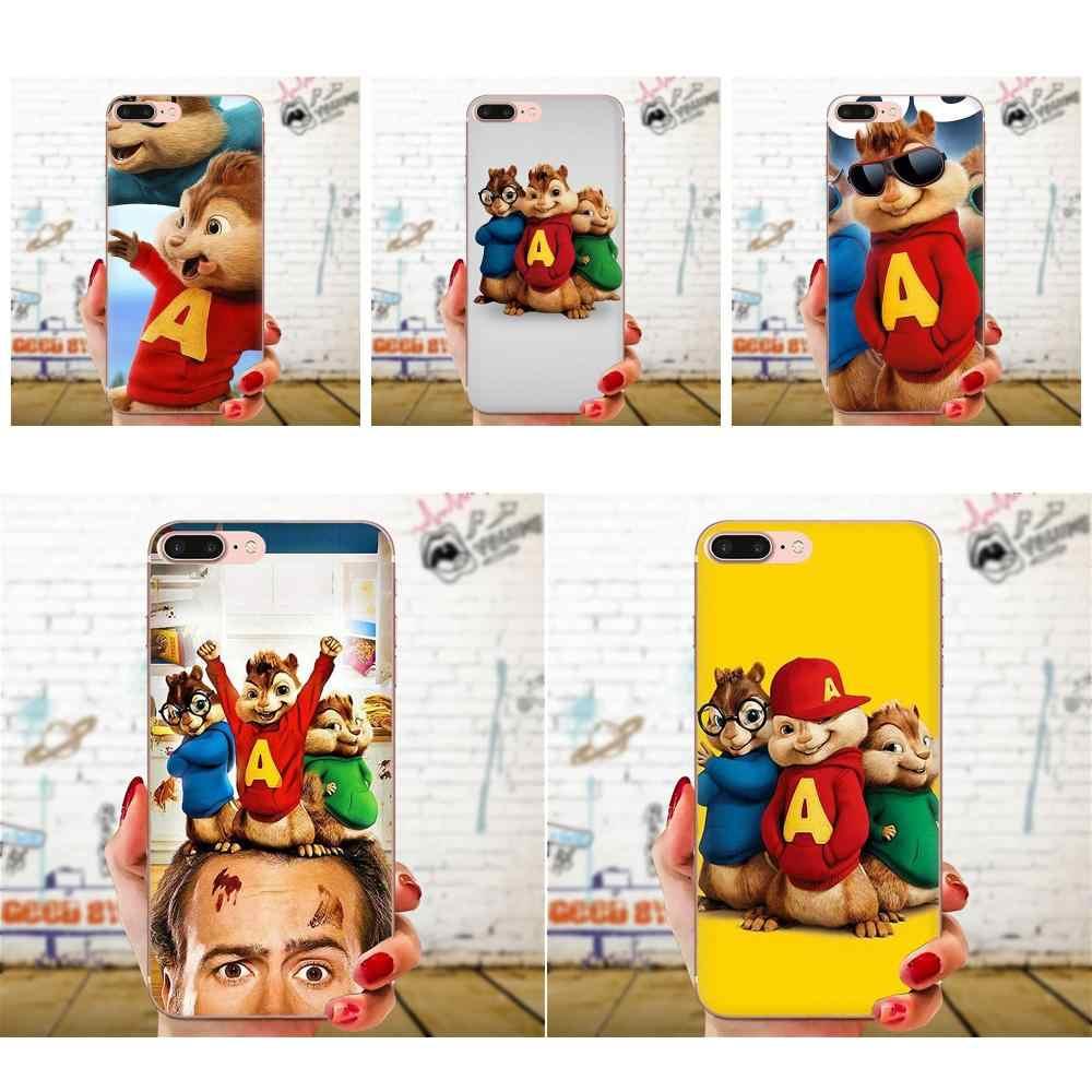 Película Alvin y las ardillas para Huawei P7 P8 P9 P10 P20 P30 Lite Mini Plus Pro Y9 primer P inteligente Z 2018 2019 TPU imprimir Capa