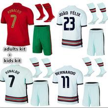 Novo 2020- 21 camisa de portugal jogo de crianças de qualidade superior andre silva ronaldo b. fernandes bernardo joão felix joao cancelo