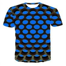New summer men T-shirt 3D dazzle color vertigo black hole de