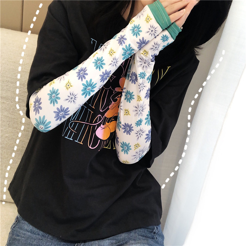 2 Pieces = 1 Pairs High Quality! Summer Cooling Oversleeves Sunscreen Female Arm Guard Arm Sleeves Cycling UV Protection