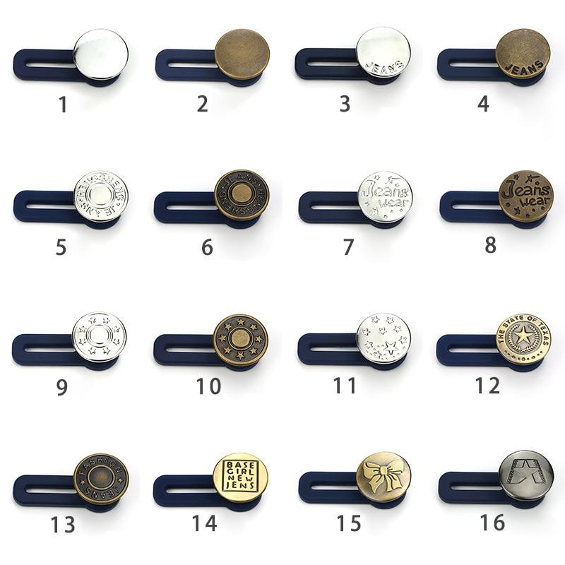 10pcs Jeans Retractable Button Adjustable Detachable Extended Button For Clothing Jeans FEA889