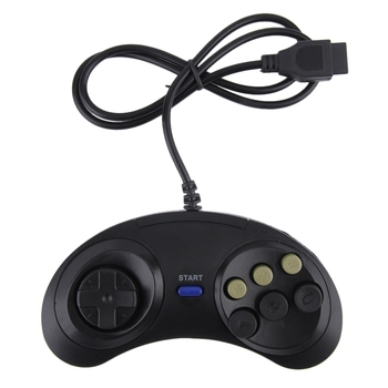 Game controller for SEGA Genesis for 16 bit handle controller 6 Button Gamepad for SEGA MD Game Accessories 10pcs for sega mega drive 112 in 1 game card cartridge 16 bit md game card for sega genesis freeshipping