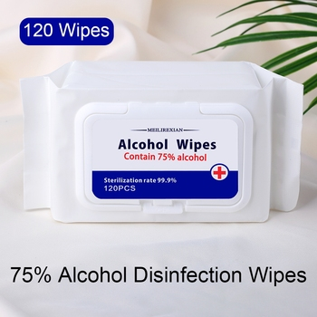 360 Pcs/3 Bags Alcohol Wet Wipe Disposable Disinfection Antiseptic Skin Cleaning Wipes 75% Alcohol Wipes for Adults