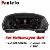Panlelo Instrument Panel 12,3 Navigator mit Intelligente Voll Flüssigkeit Kristall Instrument für Volkswagen Golf 2019 Wifi Airplay