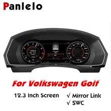 Panlelo panneau de bord Intelligent en cristal, écran 12.3 pouces, Instrument Intelligent, pour Volkswagen Golf 2019, wi fi, Airplay