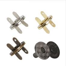 Fermoirs magnétiques à pression pour sac à main, lot de 10 pièces de 11/14/18mm, couleurs au choix