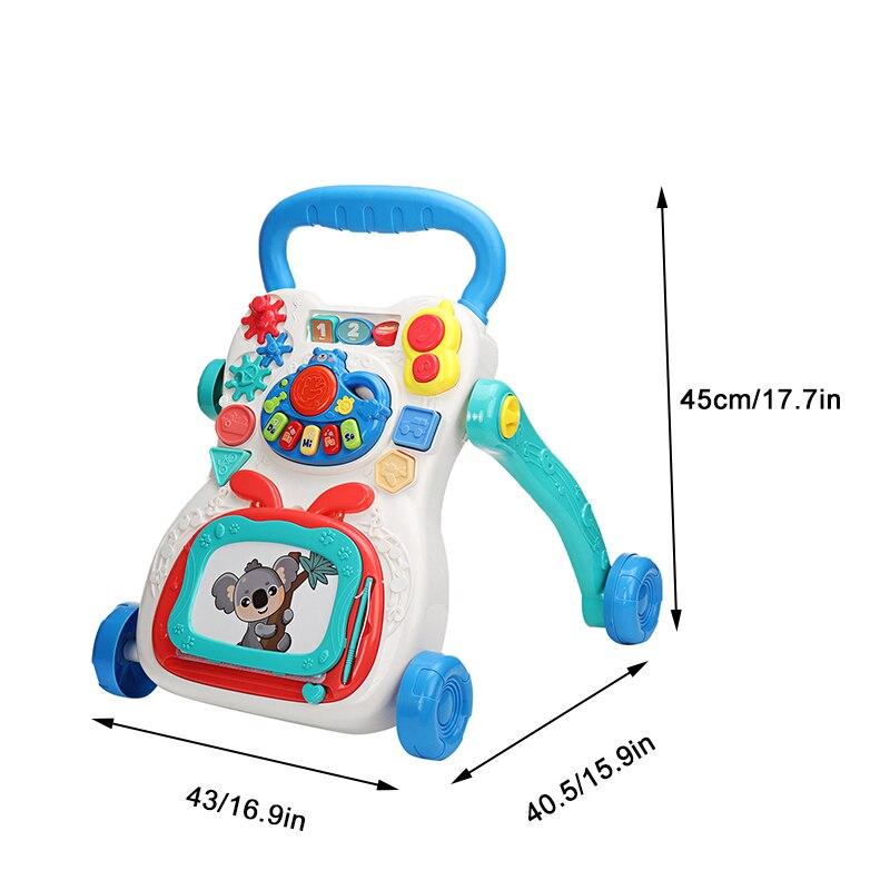 Andador infantil multifuncional, caminhante para crianças pequenas,