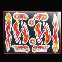 1 sheet,30x22cm,Flame sticker for motorcycle,chopper, dirt bike pit bike, ATV,off road bike,scooter,UTV, free shipping