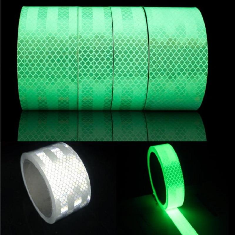 Reflective Add Luminous Car-body Stickers Cool Reflective Self-luminous Tape Night Light Self-adhesive Safety Warning Sticker