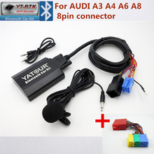 Yatour Car Audio interfaccia Bluetooth per Audi A3 A4 A6 A8 AllRoad TT Digital Music changer AUX adattatore