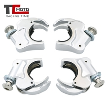 TCMOTO 4 Pcs Motorcycle 39mm Windshield Clamp for Harley Dyna Sportster XL 883 1200 XL883 XL1200 18 rise 1 1 4 ape hanger handlebar for harley sportster xl 883 1200 flst fxst
