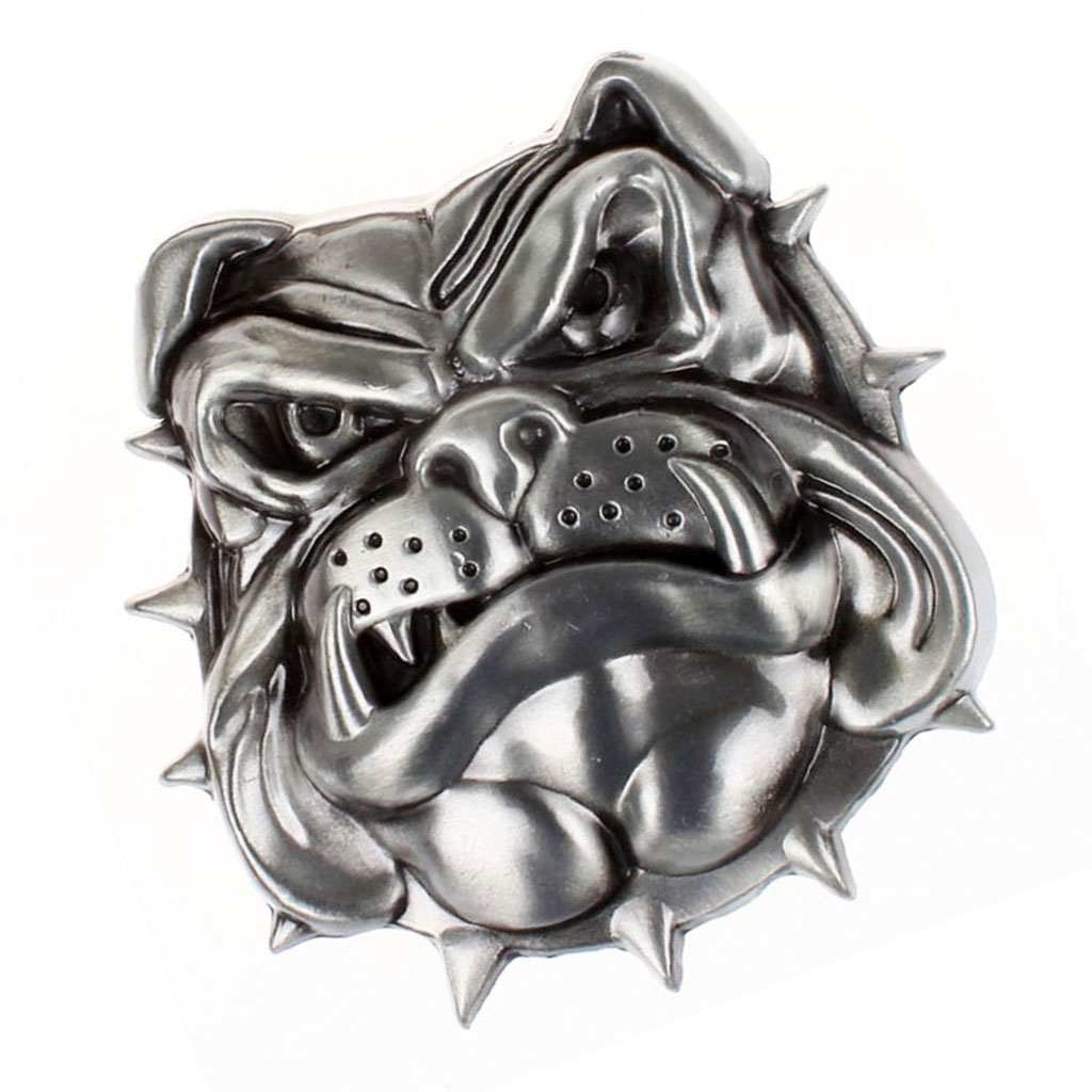 Retro Dog Head Pattern Rodeo Belt Buckle Cowboy Western Fashion Belt Buckle