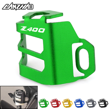 Z400 Motorcycle Rear Brake Fuel Tank Oil Cup Cover Protector Holder CNC Aluminum Accessories for Kawasaki 2017 2018 2019