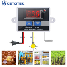 AC 220V 12V 24V 10A -50~110C Intelligent Digital Thermostat LED Temperature Controller Regulator Switch For Incubator NTC Sensor