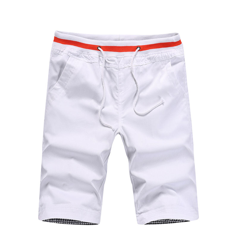 Summer Men Clothing Cotton Fashion Shorts Men Drawstring Men StretchCasual Shorts