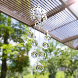 Image 3 - H&D Hanging Crystal Suncatcher with Crystal Ball Prism Rainbow Maker Tree of Life Decor for Garden Outdoor Home Kids Room Window