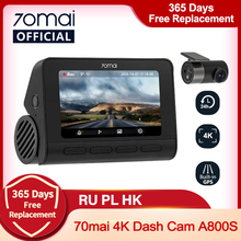 Car DVR Image Dash-Cam GPS Parking UHD ADAS 70mai Cinema-Quality 140FOV Sony Imx415 4k A800