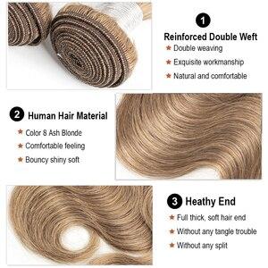 Image 3 - MOGUL HAAR Farbe 8 Asche Blonde Farbe 27 Honig Blonde Indische Körper Welle Haarwebart Bundles 2/3/4 Bundles Remy Menschlichen haar Verlängerung